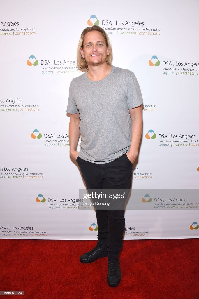 Damian Whitewood attends DSALA presents 'My Feral Heart' in celebration of World Down Syndrome Day at Laemmle's Ahrya Fine Arts Theatre on March 21, 2017 in Beverly Hills, California.