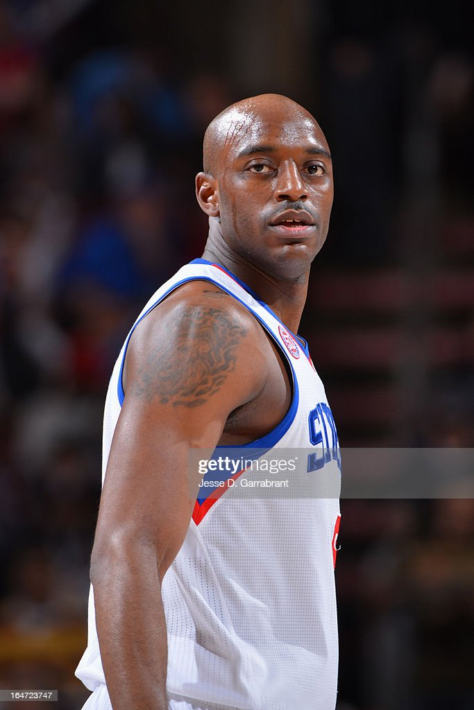 Damian Wilkins #8 of the Philadelphia 76ers looks on against the Brooklyn Nets at the Wells Fargo Center on March 11, 2013 in Philadelphia, Pennsylvania.
