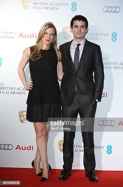 Damien Chazelle and guest attend the EE British Academy Awards nominees party at Kensington Palace on February 7 2015 in London England