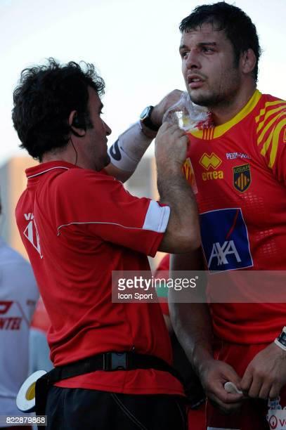 Damien CHOULY Brive / Perpignan 2eme journee de Top 14 Stade Amedee Domenech