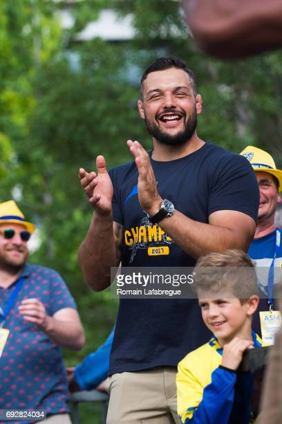 Damien Chouly of Clermont during the Clermont Auvergne celebration the day after winning the Top 14 Final on June 5 2017 in Clermont France