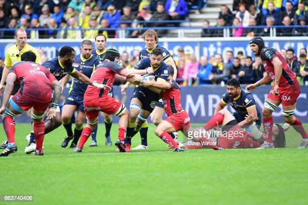 Damien Chouly of Clermont during the European Champions Cup quarter final match between Clermont and Toulon at Stade Marcel Michelin on April 2 2017...