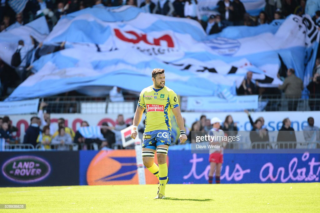 Damien Chouly of Clermont during the French Top 14 rugby union match between Racing 92 v Clermont at Stade Yves Du Manoir on May 1, 2016 in Colombes, France.