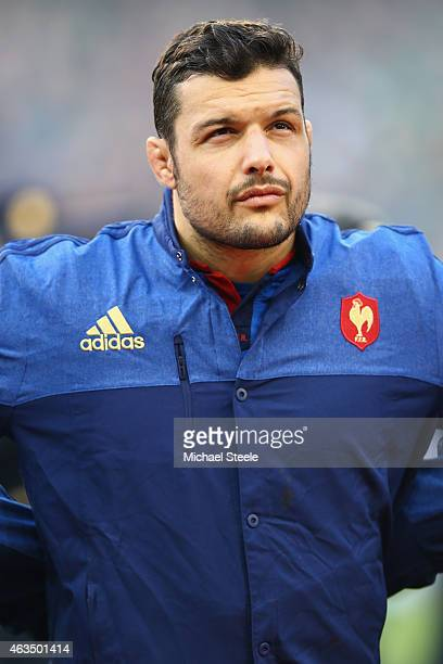 Damien Chouly of France during the RBS Six Nations match between Ireland and France at the Aviva Stadium on February 14 2015 in Dublin Ireland