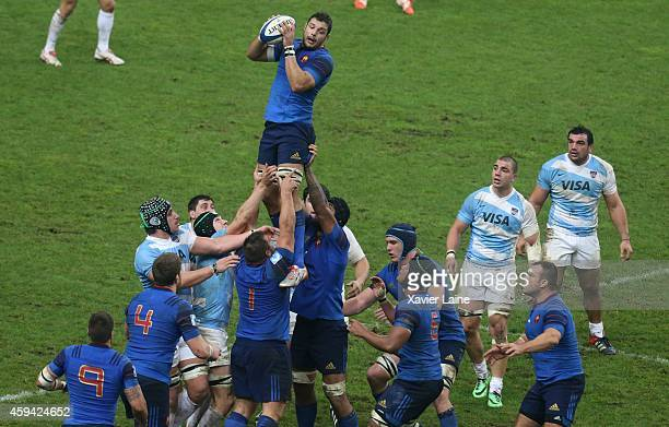 Damien Chouly of France in action during the international rugby test match between France and Argentina Pumas at Stade de France on November 22 2014...