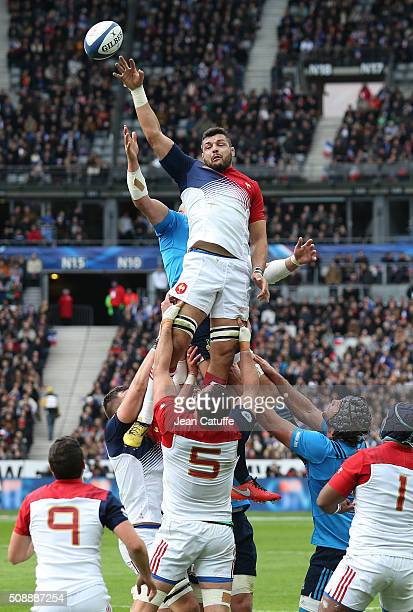 Damien Chouly of France in action during the RBS 6 Nations match between France and Italy at Stade de France on February 6 2016 in SaintDenis nearby...