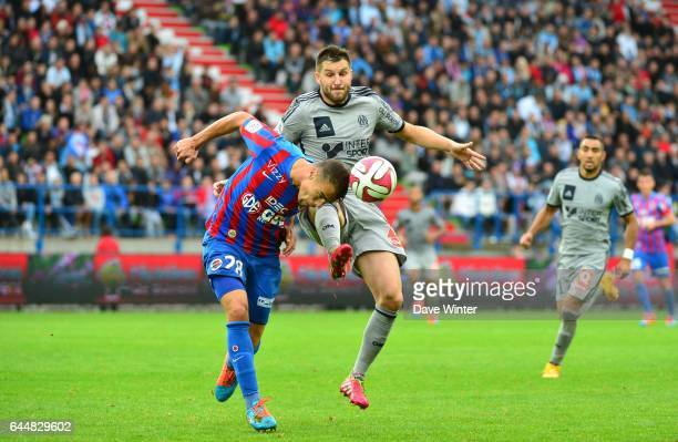 Damien DA SILVA / Andre Pierre GIGNAC Caen / Marseille 9eme journee de Ligue 1 Photo Dave Winter / Icon Sport