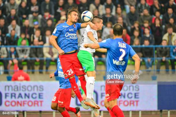 Damien DA SILVA / Romain HAMOUMA Caen / Saint Etienne Ligue 1 9e journee Photo Dave Winter / Icon Sport