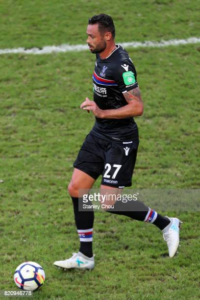 Damien Delaney of Crystal Palace during the Premier League Asia Trophy match between West Bromwich Albion and Crystal Palace at Hong Kong Stadium on...