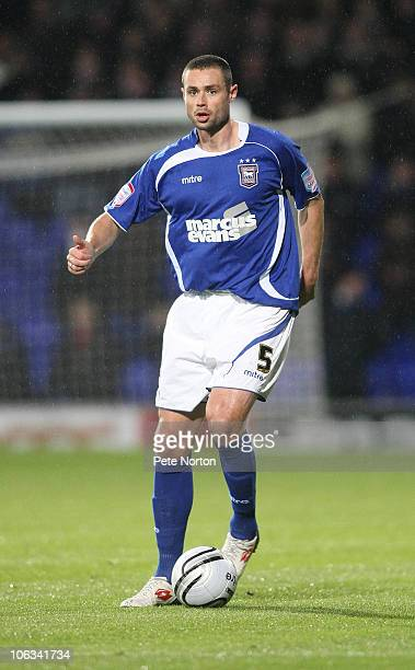 Damien Delaney of Ipswich Town in action during the Carling Cup Fourth Round match between Ipswich Town and Northampton Town at Portman Road on...