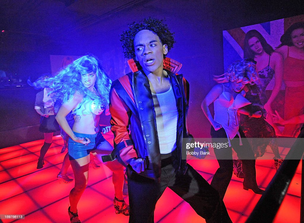 Damien Deshaun Smith as 'Michael Jackson', Meg Lanzarone as 'Madonna Past', Joey Johnson as '<a gi-track='captionPersonalityLinkClicked' href=/galleries/search?phrase=Vanilla+Ice&family=editorial&specificpeople=228351 ng-click='$event.stopPropagation()'>Vanilla Ice</a>',Bevin Bru as '<a gi-track='captionPersonalityLinkClicked' href=/galleries/search?phrase=Katy+Perry&family=editorial&specificpeople=599558 ng-click='$event.stopPropagation()'>Katy Perry</a>' and Ann-Marie Sepe as 'Lady Gaga' attends Totally Tubular Time Machine at Culture Club on January 19, 2013 in New York City.