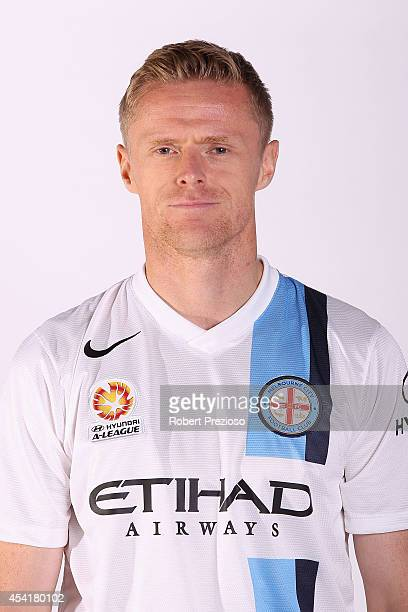 Damien Duff poses during the Melbourne City 2014/15 ALeague headshots session at Fox Footy Studios on August 26 2014 in Melbourne Australia