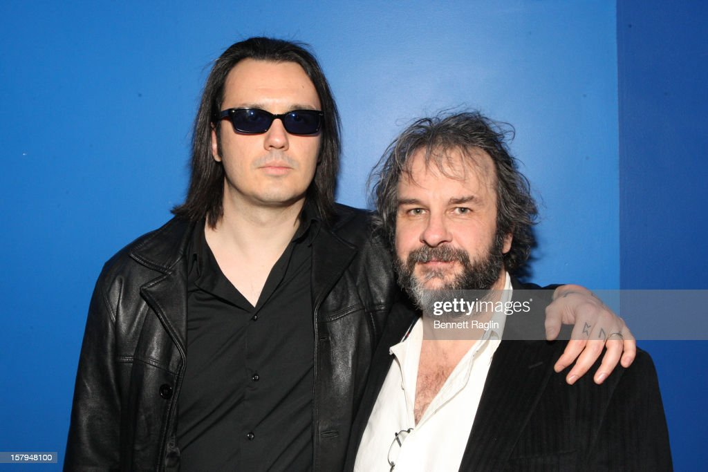 Damien Echols and director <a gi-track='captionPersonalityLinkClicked' href=/galleries/search?phrase=Peter+Jackson+-+Filmmaker&family=editorial&specificpeople=203018 ng-click='$event.stopPropagation()'>Peter Jackson</a> attend the after party for the 'West Of Memphis' premiere at The French Institute on December 7, 2012 in New York City.