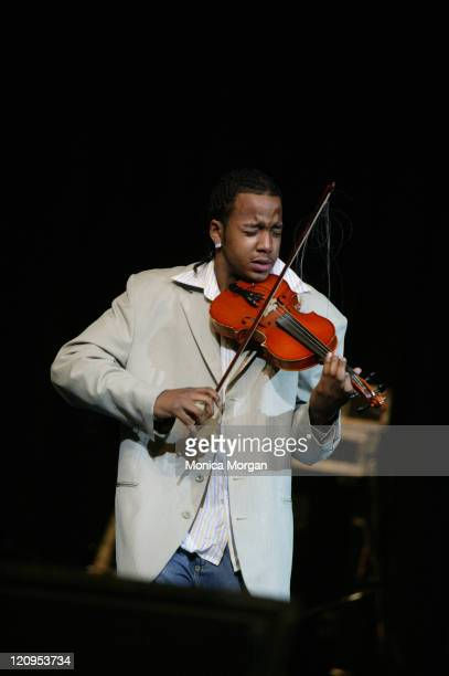 Damien Escobar of Nuttin' but Stringz during Comcast Presents Yolonda Adams 'Today Tour' February 10 2006 at Greater Grace Temple in Detroit Michigan...