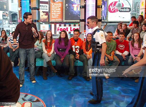 Damien Fahey and Robert Ben Garant of Reno 911 during The Cast of 'Reno 911 Miami' Visits and Katharine McPhee Hosts MTV's 'TRL' February 21 2007 at...