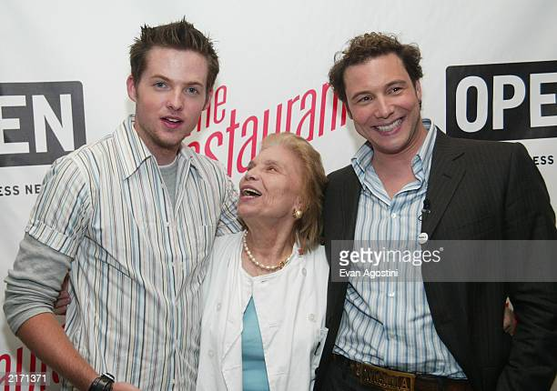 Damien Fahey Mama Nicolina and Rocco DiSpirito attend the American Express viewing party for the reality television show 'The Restaurant' and the...