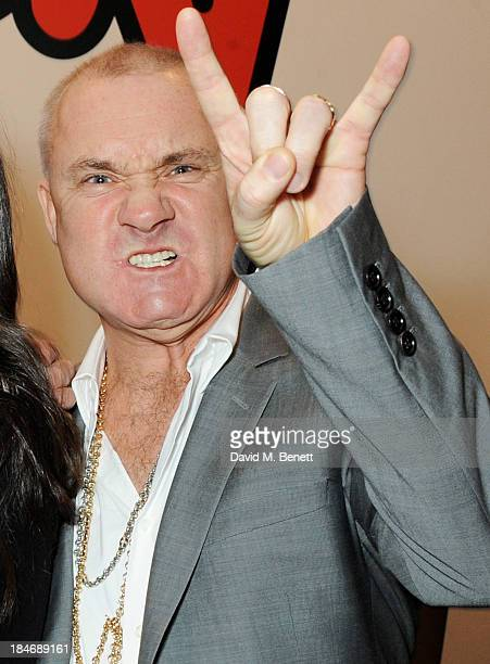 Damien Hirst attends a private view of Damien Hirst And Felix GonzalezTorres's exhibition 'Candy' at Blain Southern on October 15 2013 in London...