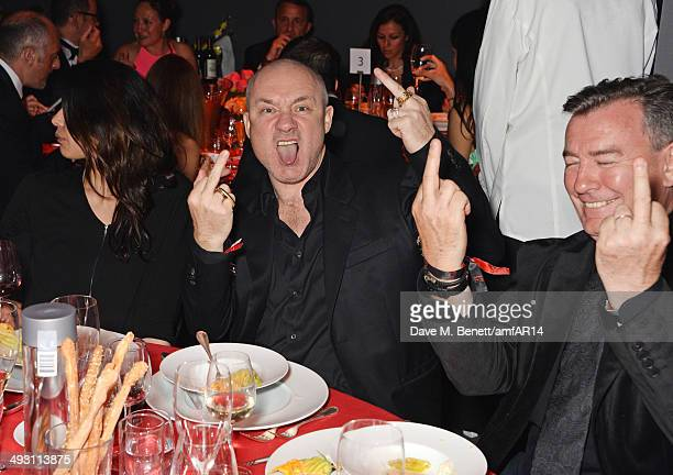 Damien Hirst attends amfAR's 21st Cinema Against AIDS Gala presented by WORLDVIEW BOLD FILMS and BVLGARI at Hotel du CapEdenRoc on May 22 2014 in Cap...