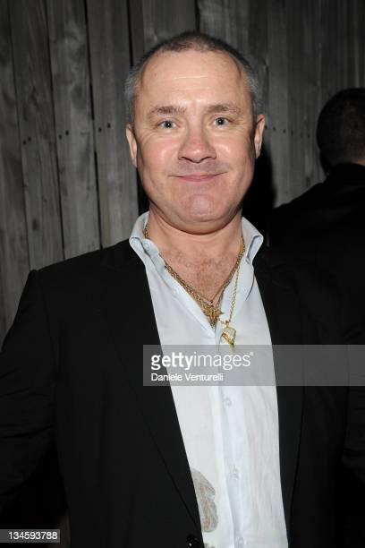 Damien Hirst attends the 'Emporio Armani and Cardi Black Box Gallery celebrate Art Basel' at W Hotel on December 2 2011 in Miami Florida