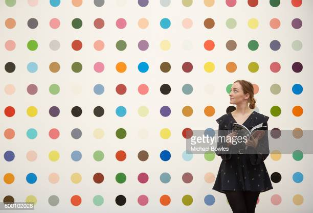 Damien Hirst's 1Heptene 20042011 goes on display at Sotheby's on June 23 2017 in London England