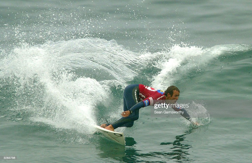 Damien Hobgood in action during round two of the Rip Curl Pro at Bells Beach April 9 2004 in Torquay Australia The Rip Curl Pro is round two of...