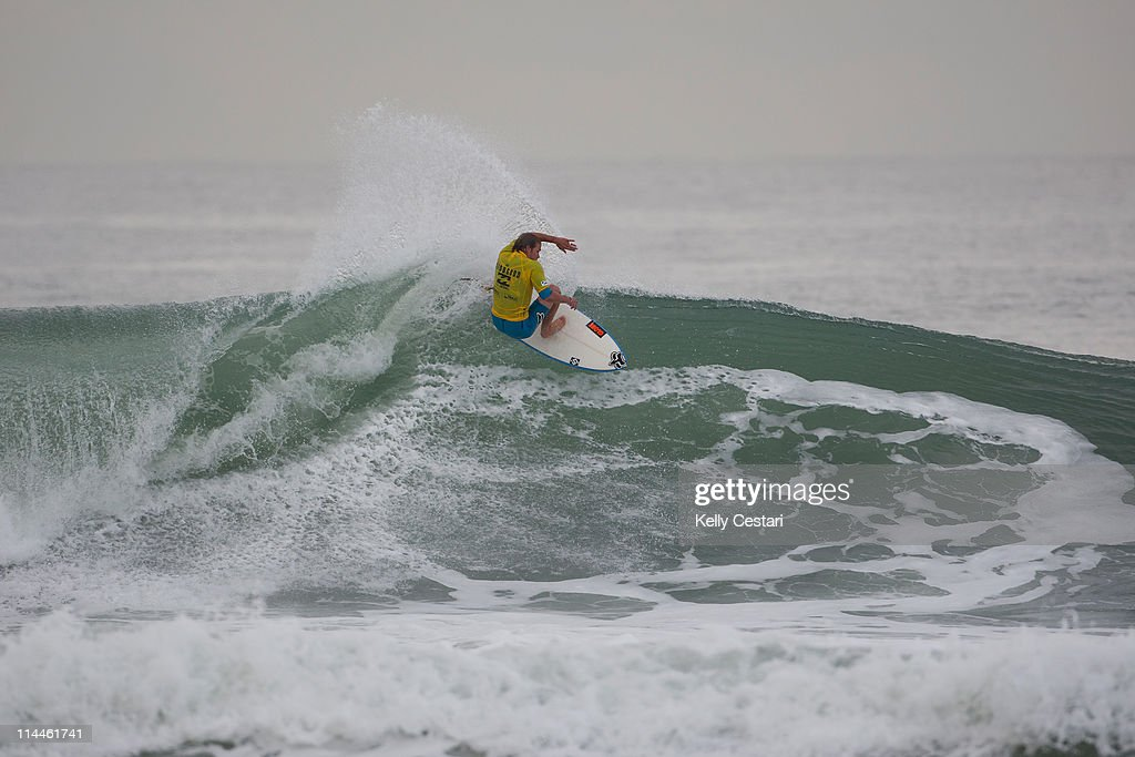 Damien Hobgood of the United States finishes with an equal 9th place during Round 5 of the Billabong Rio Pro at Barra da Tijuca on May 20 2011 in Rio...