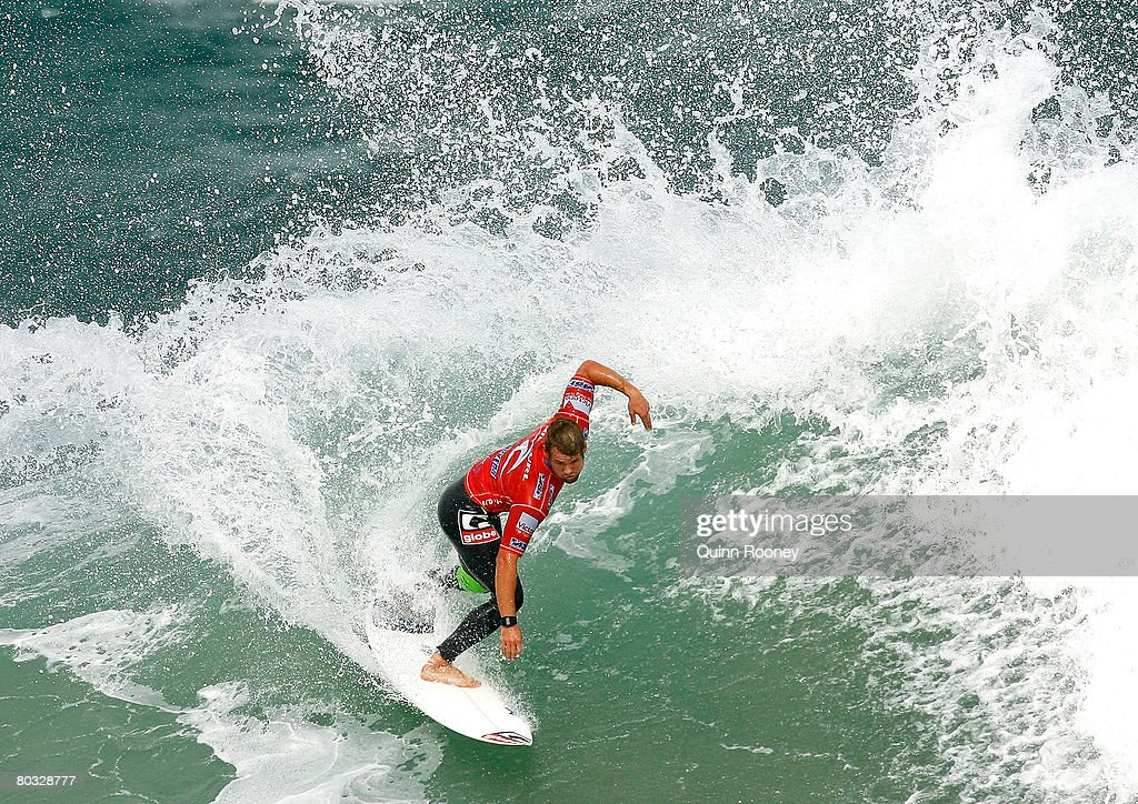 Damien Hobgood of the United States of America competes during Round One of the Rip Curl Pro as part of the ASP World Tour held at Bells Beach March...