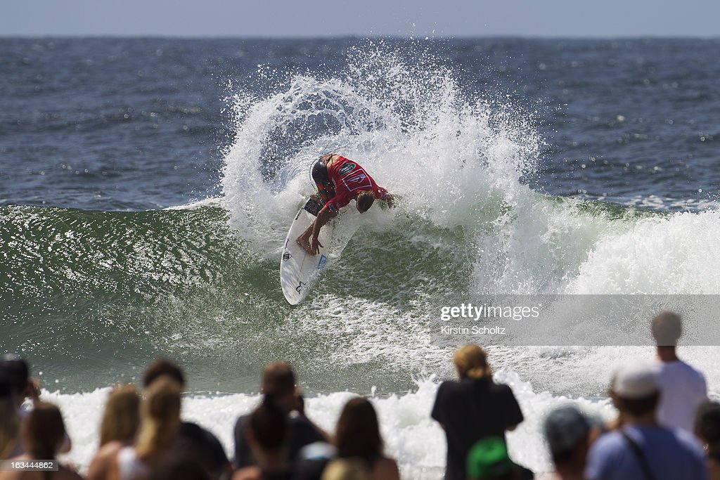 Damien Hobgood of the United States of America surfs during round three during the Quiksilver Pro on March 10, 2013 in Gold Coast, Australia.