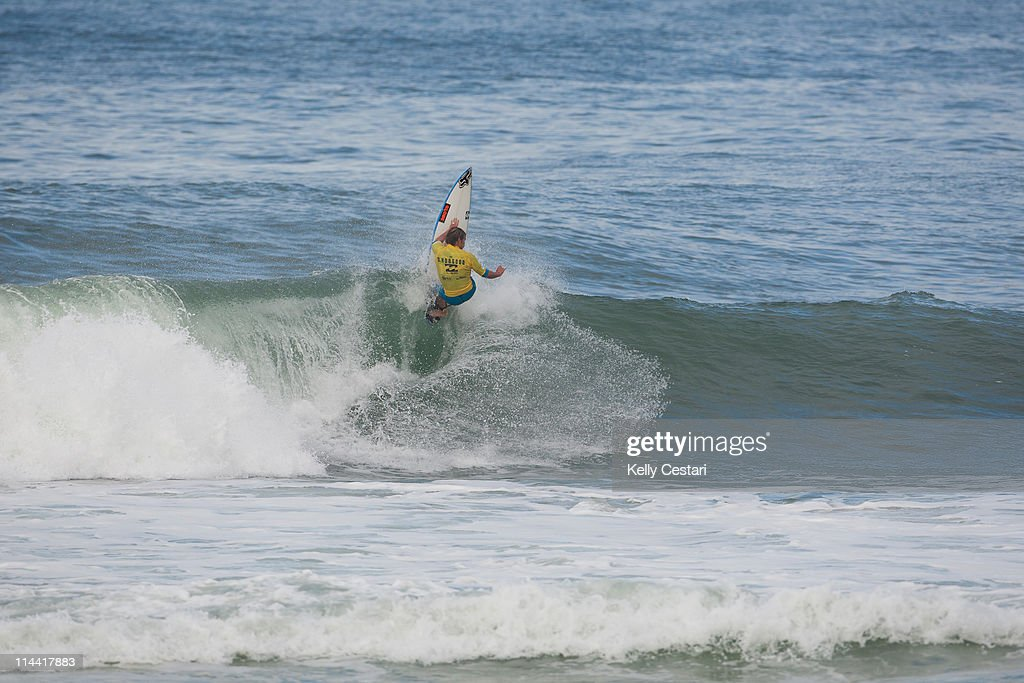 Damien Hobgood of the United States will surf Round 5 of the Billabong Rio Pro after placing second in his Round 4 heat at Barra da Tijuca on May 19...