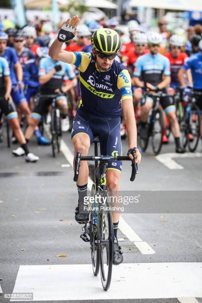 Damien Howson of Orica Scott and yellow jersey wearer before stage 4 at Kinglake as part of the 2017 Jayco Herald Sun Tour on February 05 2017 in...