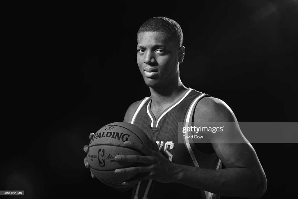 Damien Ingles #17 of the Milwaukee Bucks poses for a portrait during the 2014 NBA rookie photo shoot on August 3, 2014 at the Madison Square Garden Training Facility in Tarrytown, New York.