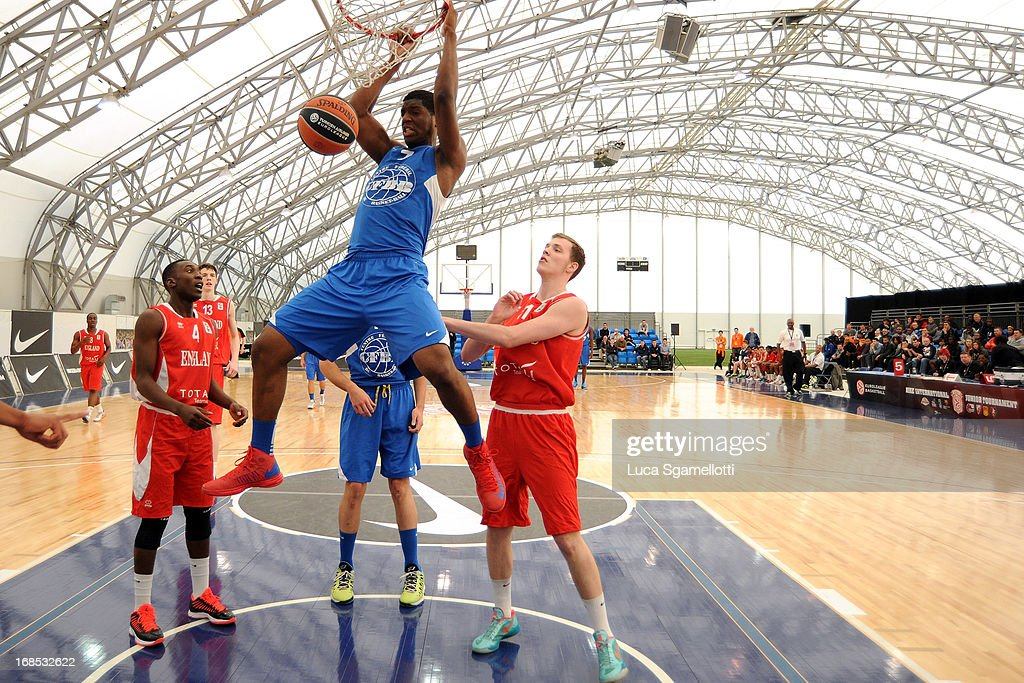 Damien Inglis, #7 of INSEP Paris in action during the Nike International Junior Tournament game between INSEP Paris v Team England at London Soccerdome on May 10, 2013 in London, United Kingdom.