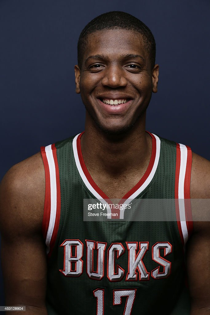 Damien Inglis #17 of the Milwaukee Bucks poses for a portrait during the 2014 NBA rookie photo shoot on August 3, 2014 at the Madison Square Garden Training Facility in Tarrytown, New York.