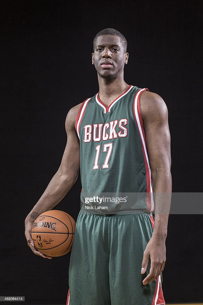 Damien Inglis #17 of the Milwaukee Bucks poses for a portrait during the 2014 NBA rookie photo shoot at MSG Training Center on August 3, 2014 in Tarrytown, New York.