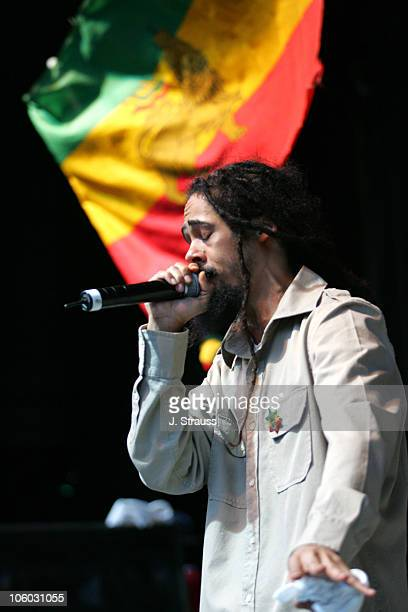 Damien 'Jr Gong' Marley during Ben Harper Performs Live at the Greek August 11 2006 at The Greek in Los Angeles California United States