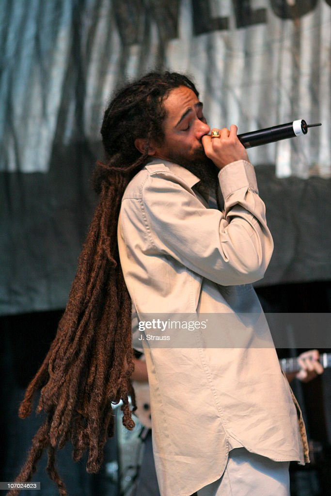 Damien 'Jr. Gong' Marley during Ben Harper Performs Live at the Greek - August 11, 2006 at The Greek in Los Angeles, California, United States.