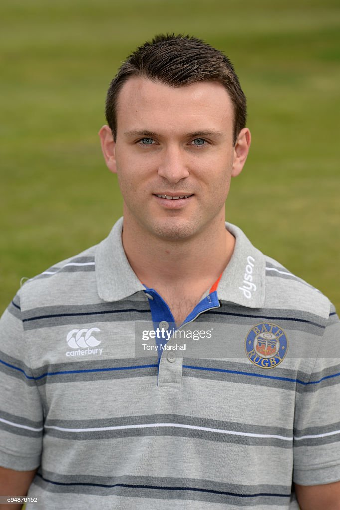 Damien Kelly First Team Physiotherapist poses for a portrait during the Bath Rugby squad photo call for the 20162017 Aviva Premiership Rugby season...