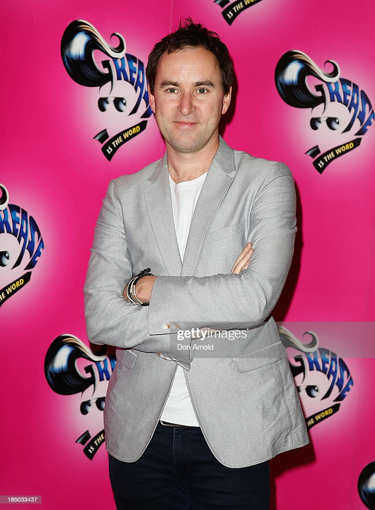 <a gi-track='captionPersonalityLinkClicked' href=/galleries/search?phrase=Damien+Leith&family=editorial&specificpeople=3911896 ng-click='$event.stopPropagation()'>Damien Leith</a> arrives at the Sydney Premiere of GREASE at The Star on October 17, 2013 in Sydney, Australia.