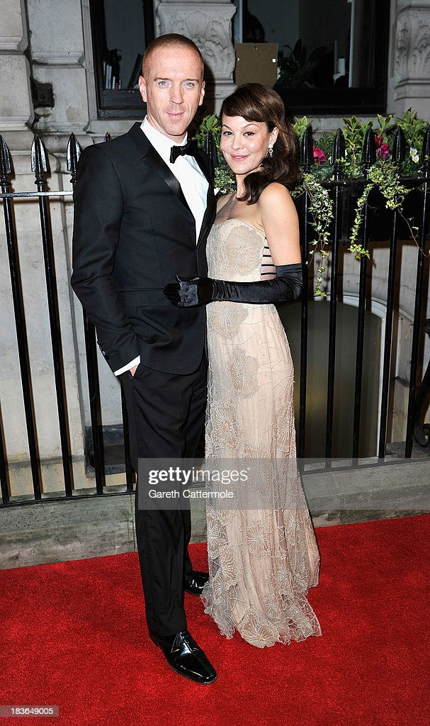 Damien Lewis and <a gi-track='captionPersonalityLinkClicked' href=/galleries/search?phrase=Helen+McCrory&family=editorial&specificpeople=214616 ng-click='$event.stopPropagation()'>Helen McCrory</a> attend a gala dinner hosted by the BFI ahead of the London Film Festival at 8 Northumberland Avenue on October 8, 2013 in London, England.