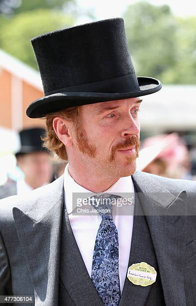 Damien Lewis arrives for day 1 of Royal Ascot at Ascot Racecourse on June 16 2015 in Ascot England