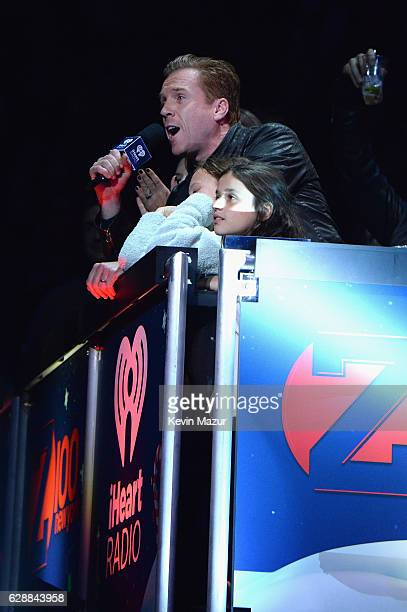 Damien Lewis speaks onstage during Z100's Jingle Ball 2016 at Madison Square Garden on December 9 2016 in New York New York