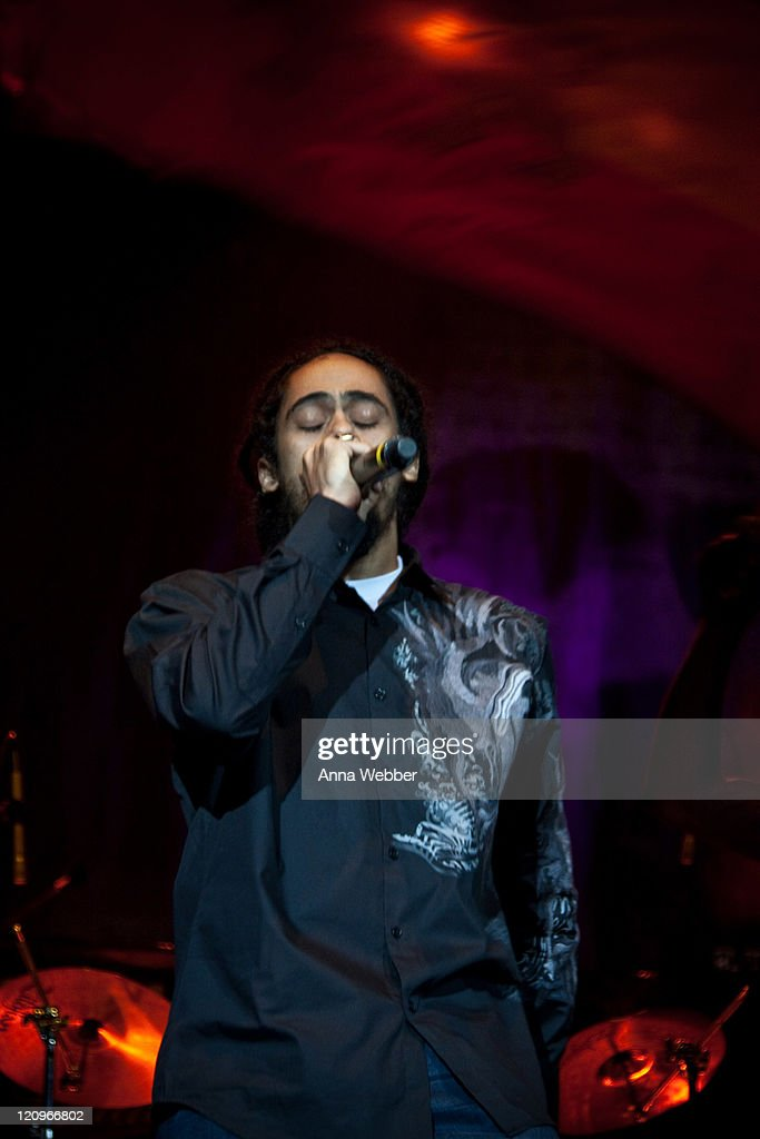 Damien Marley performs at 'Rock The Bells' at the San Manuel Amphitheater on August 8 2009 in San Bernardino California