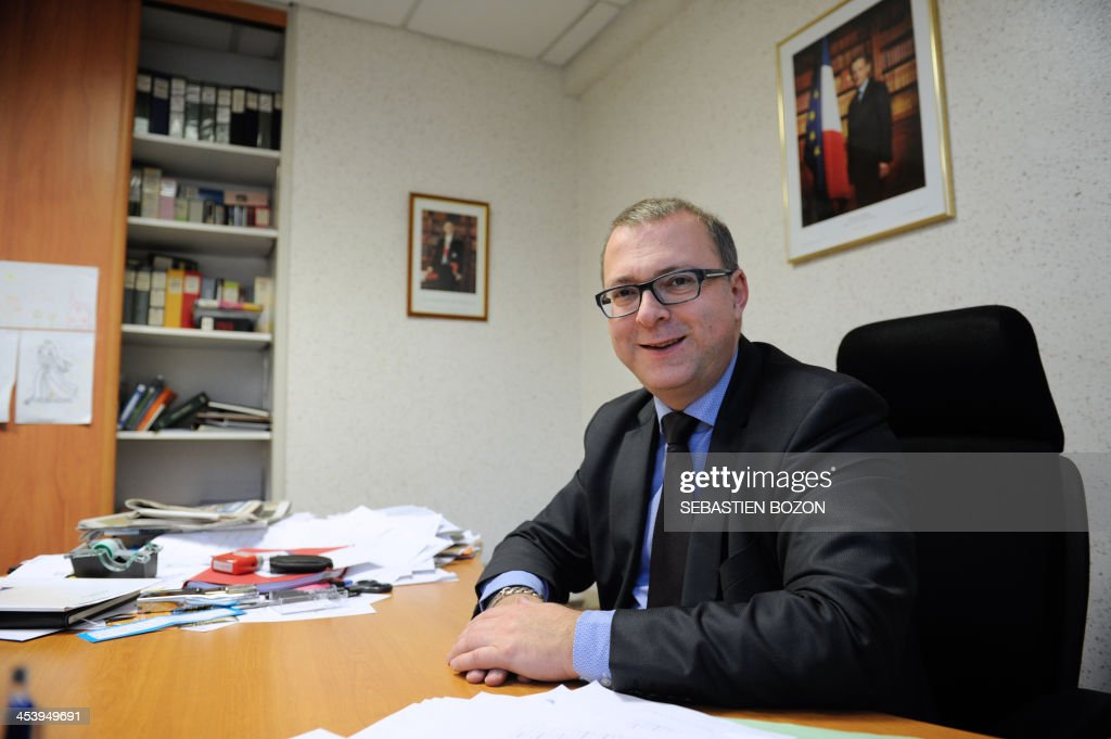 Damien Meslot, UMP right-wing party candidate for the 2014 municipal elections in Belfort, eastern France, poses on December 6, 2013.