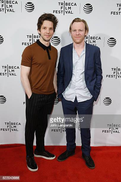 Damien Molony and Brian Gleeson attend 'Tiger Raid' Premiere during 2016 Tribeca Film Festival at Chelsea Bow Tie Cinemas on April 17 2016 in New...
