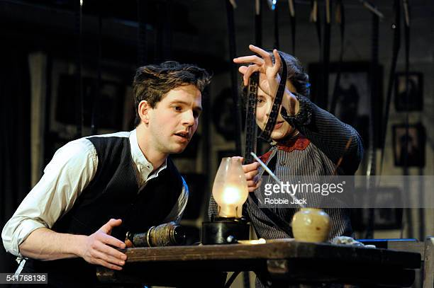 Damien Molony as Moti and Lauren O'Neil as Anna in Nicholas Wright's Travelling Light directed by Nicholas Wright at the National Theatre in London