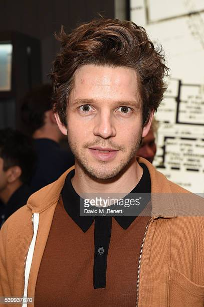 Damien Molony attends John Smedley store launch on June 13 2016 in London England
