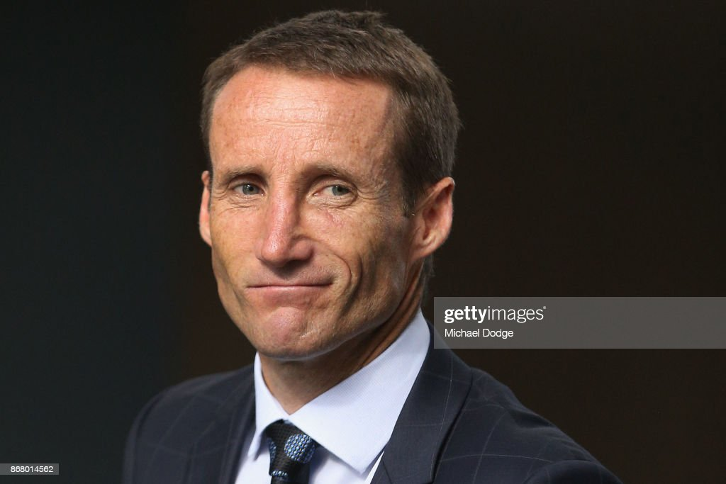Damien Oliver attends his appeals hearing against his 20 meetings suspension handed out after his Cox plate ride on October 30, 2017 in Melbourne, Australia.
