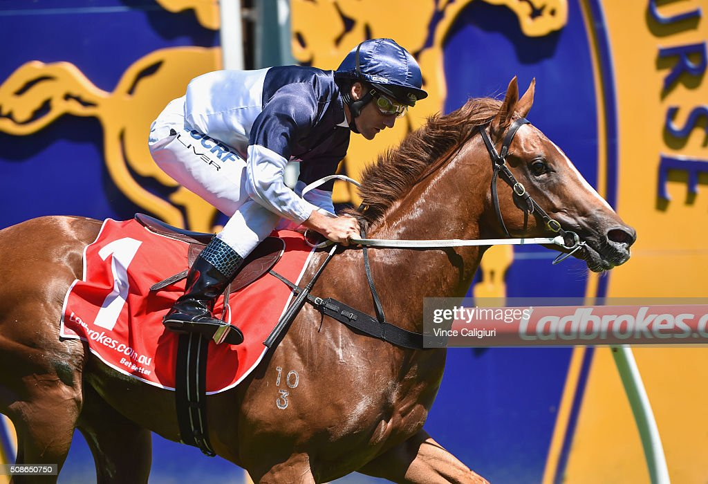 Damien Oliver riding Extreme Choice wins Race 4 Chairman's Stakes during Melbourne Racing at Caulfield Racecourse on February 6 2016 in Melbourne...