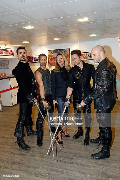 Damien Sargue Brahim Zaibat Producer Nicole Coullier Olivier Dion and David Ban present the New Musical Comedy 'Les 3 mousquetaires' during 'Vivement...