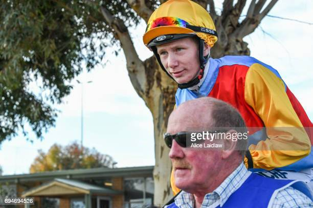 Damien Thornton before the Murray Downs Swan Hill Cup at Swan Hill Racecourse on June 11 2017 in Swan Hill Australia